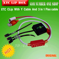 100% Original Xtc Clip 2 Box Xtc Clip 2 with Y type cable with 3 in 1 Flex cable for htc  Free Shipping