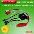 100% Original Xtc Xtc Clip Clip de 2 Caja 2 con Y tipo de cable con 3 en 1 cable de La Flexión para htc Envío gratis