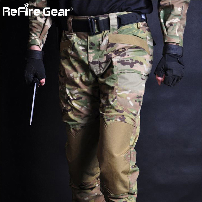 New Male Tactical Pants Wearproof Military Training Security Combat Trousers