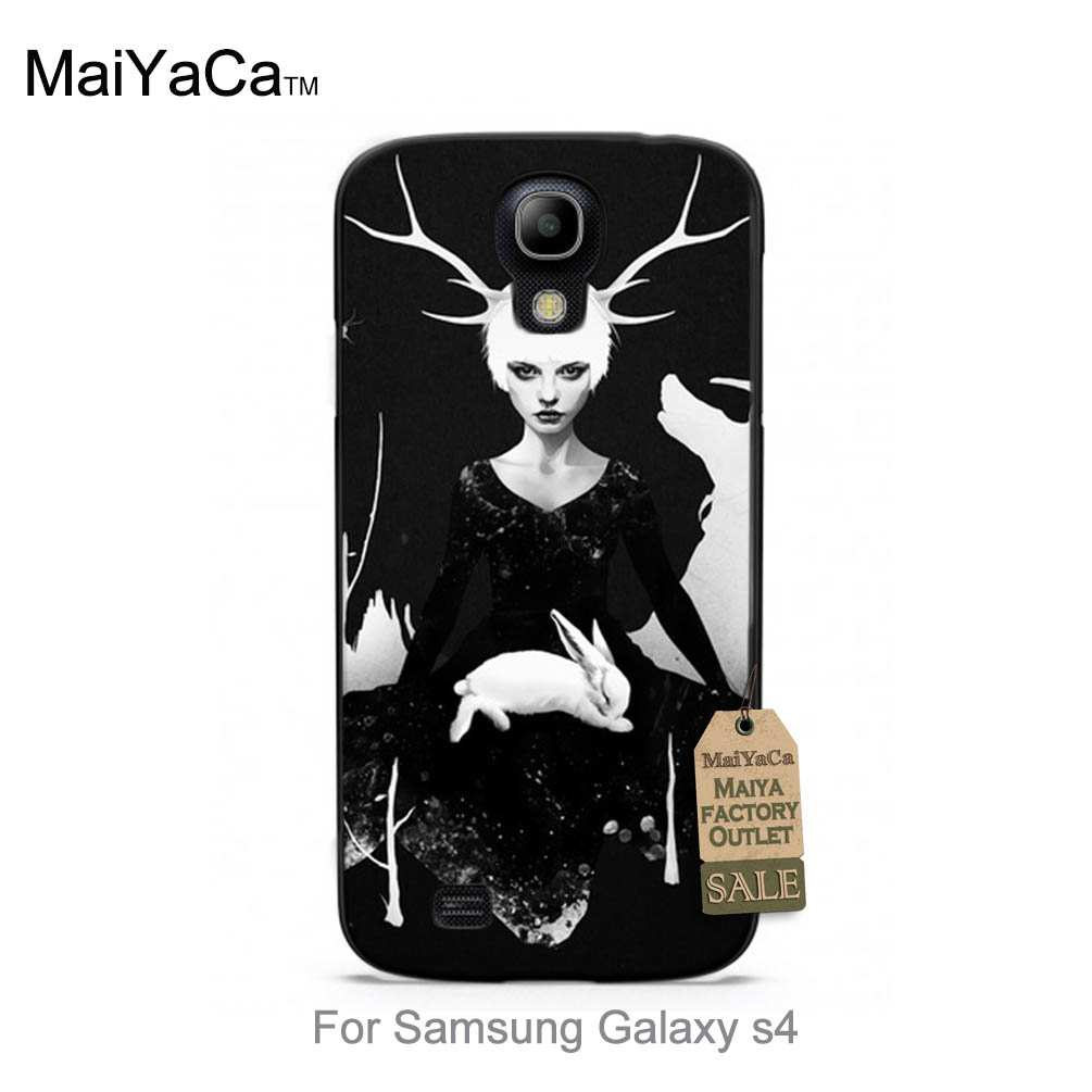 <font><b>Space</b></font> <font><b>Within</b></font> cool girl rabbit Unique Luxury Hard PC phone case For case GALAXY s4 i9500
