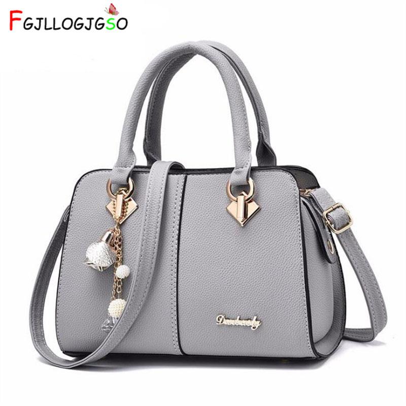 FGJLLOGJGSO 2018 New luxury Metal letters soft bag sac Lady shoulder handbag brand women bag designer crossbody bags female tote