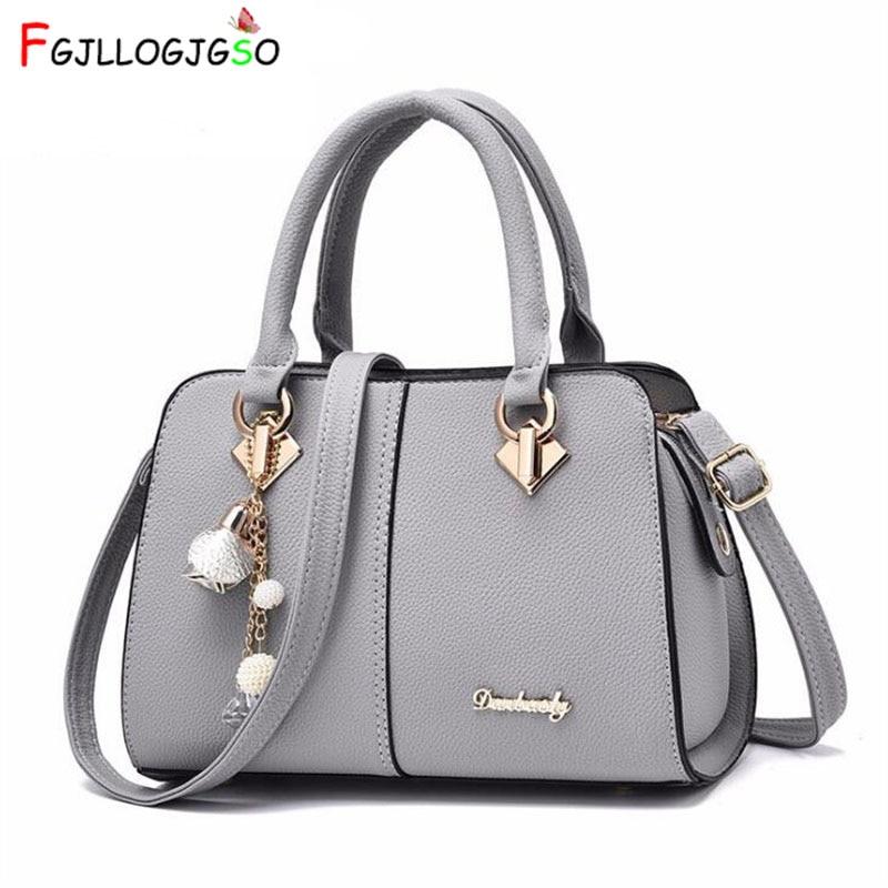 FGJLLOGJGSO 2018 New luxury Metal letters soft bag sac Lady shoulder handbag brand women bag designer crossbody bags female tote