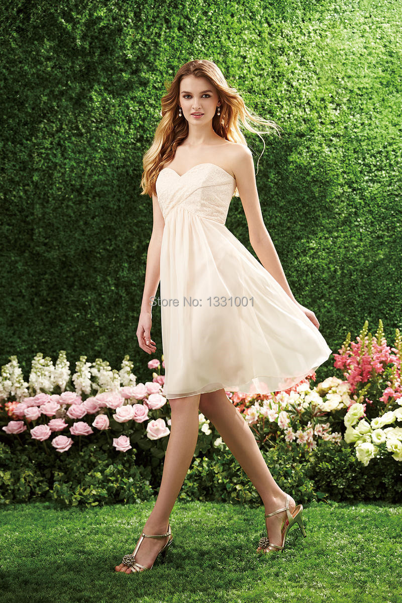 Short Ivory Bridesmaid Dresses for Juniors