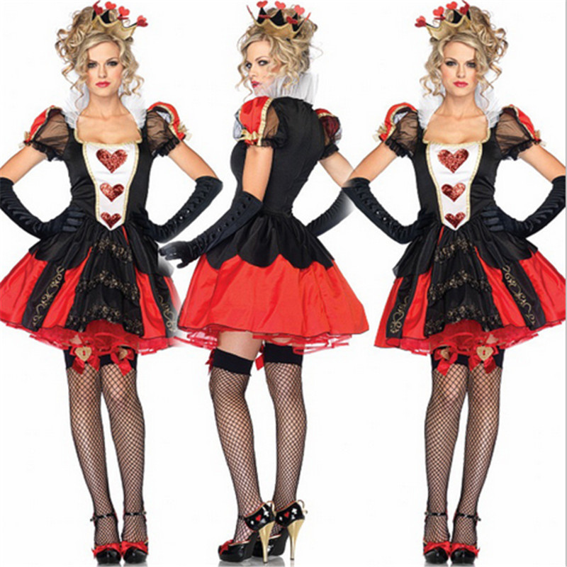 new Plus size Red Devil black Adult witch Slim dress Halloween irregular cuttingBroomstick Cosplay Halloween Costumes for women