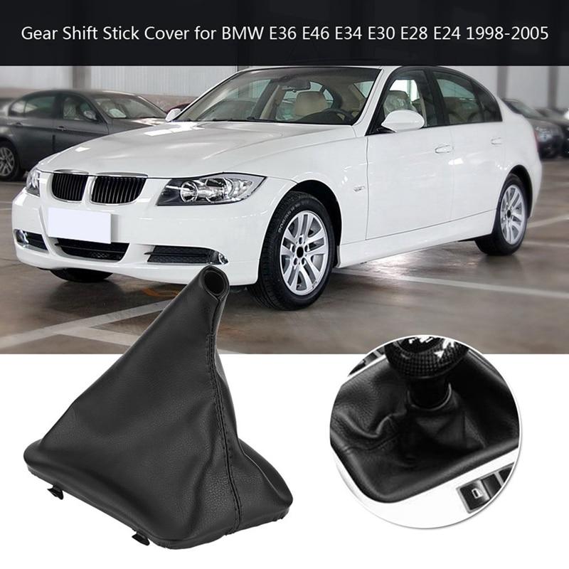 Car Gear Shift Stick Gaiter Boot Dust Cover For Bmw E36 E46 E34 E30 E28 E24 1998-2005