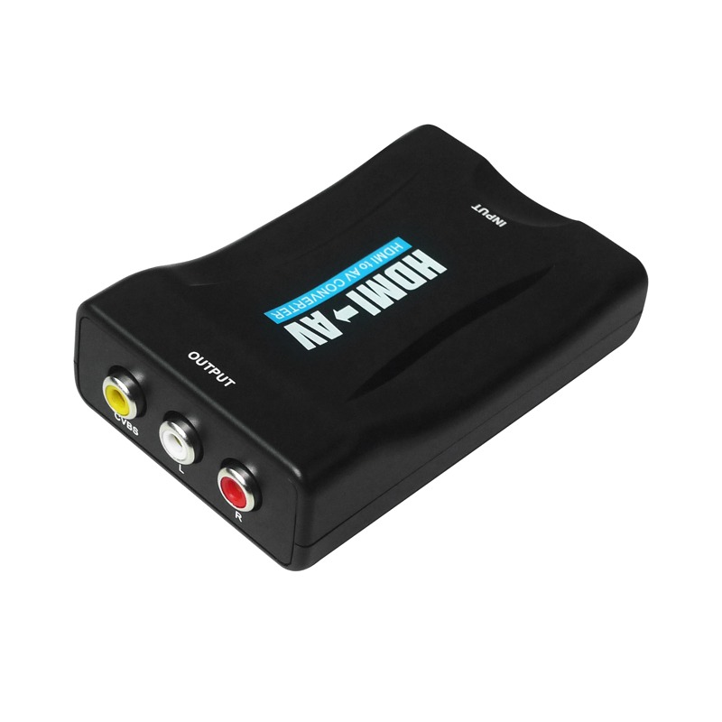 HDMI to AV which will convert digital HDMI video and audio signal to composite video signal and the FL / FR stereo audio signal