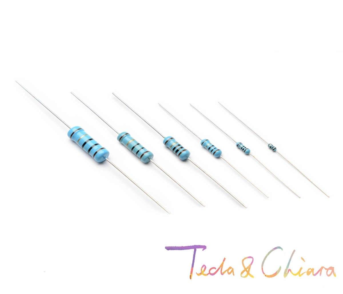 100 Pcs 220R 240R 250R 220Ohm 240Ohm 250Ohm 220 240 250 R Ohm 1/6 W 1/8 W 1% Resistor Film Logam Berwarna Cincin Perlawanan