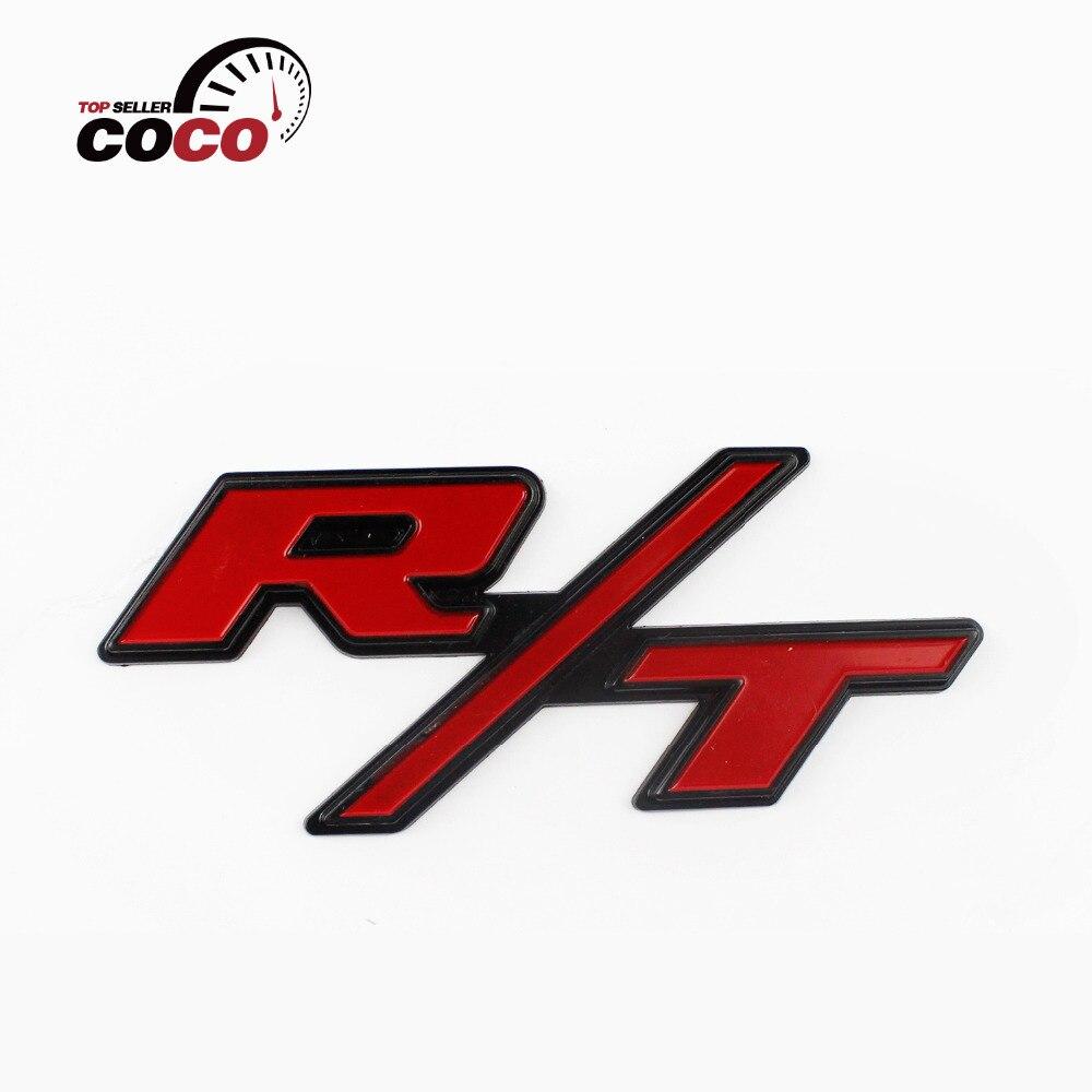 2x Chrome Red Truck Badge Emblem Tailgate Side Fender Decal Sticker HEMI for Ram
