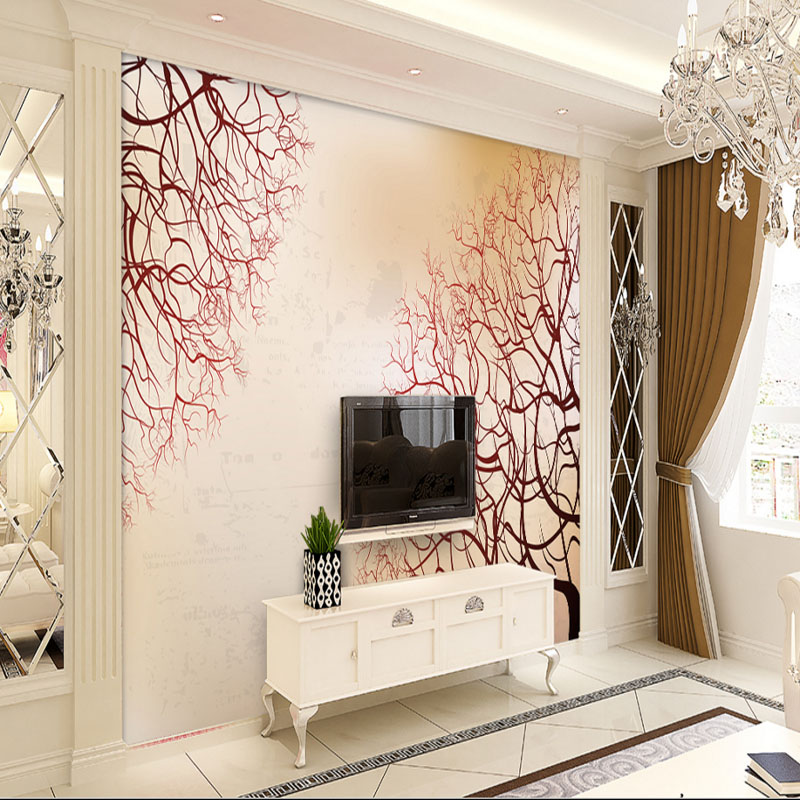 custom 3d photo wallpaper modern fashion simple nordic wall mural abstract branches living room bedroom TV background wallpaper