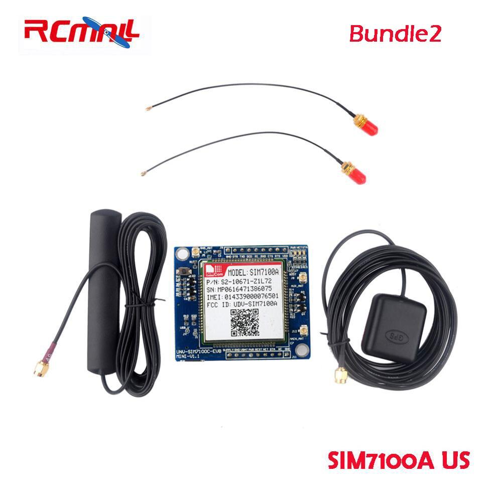 RCmall SIM7100E/SIM7100A 4G Development Board for Arduino Raspberry Pi 5-18V Android Linux Windows FZ2846-EU FZ2846-US