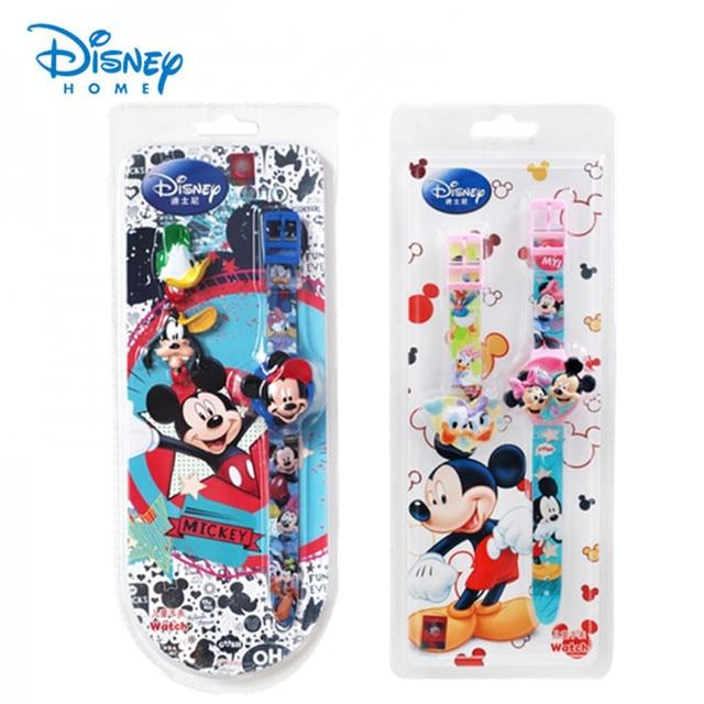 100% Genuine Disney watch Mickey Mouse watches kids fashion digital cartoon watch