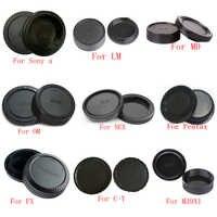 50pair/lot camera Body cap + Rear Lens Cap for Sony Alpha NEX Minolta MD Leica for Pentax Olympus Micro M4/3 Fuji C-Y M39 Camera