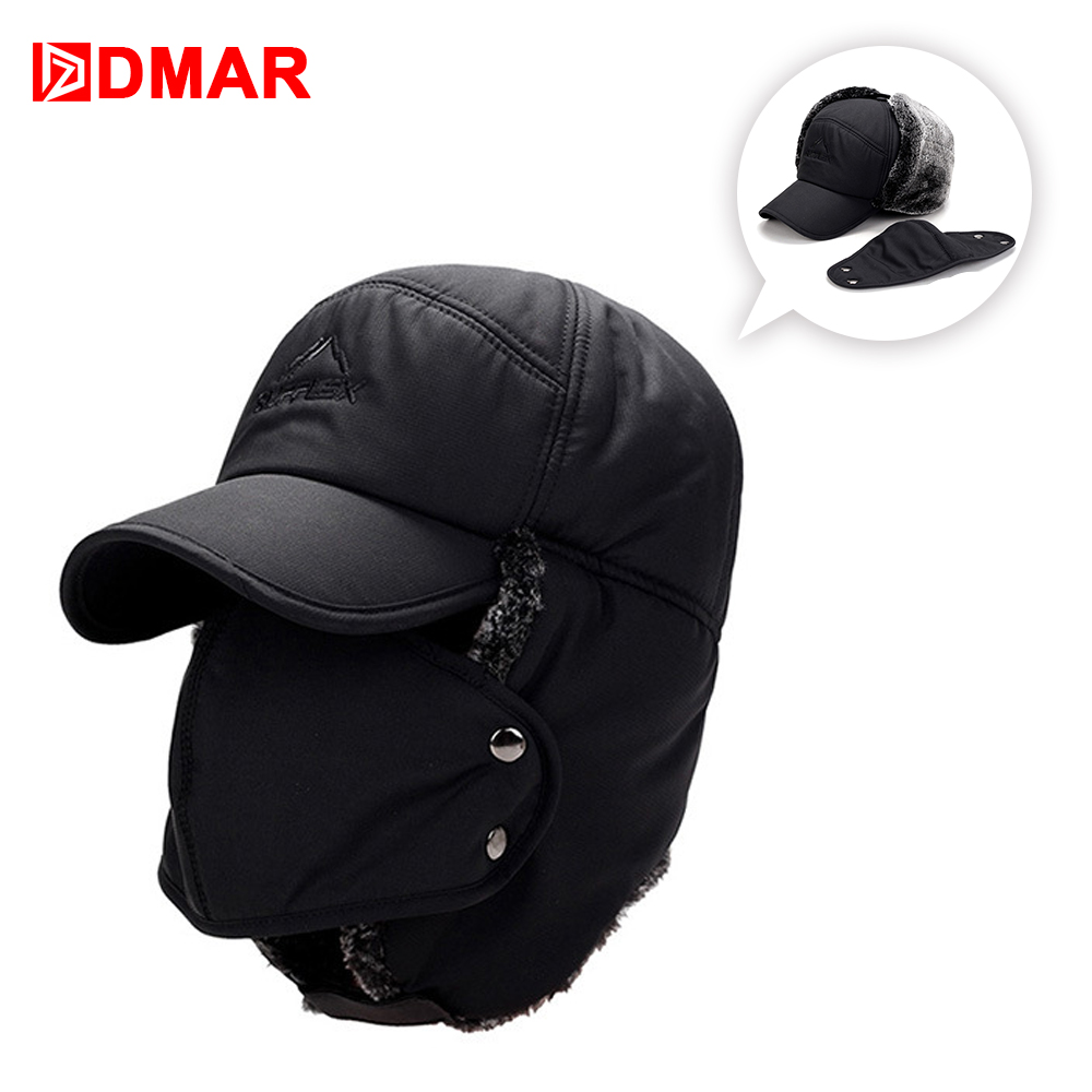 Dmar Winter Men And Women Warm Hats Hiking Fishing Outdoor Sport Hat Thickening Mountaineering Cold Cap Ear Ski Caps