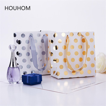 Hot Stamping Dot Gift Bag Wedding Dragee Candy Box Paper Packaging Marriage Birthday Party Gift Bags Wrapping Supplies image