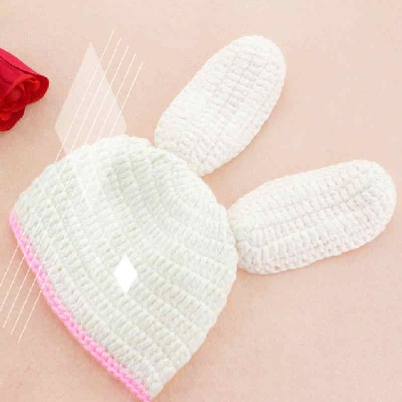 d4ee9aa520eb1 Newborn Knitting Baby Clothing Sets Photo Clothes Costumes Baby Boy Girl  Knitted Hat Briefs Sets Rabbit Long Ears Outfit