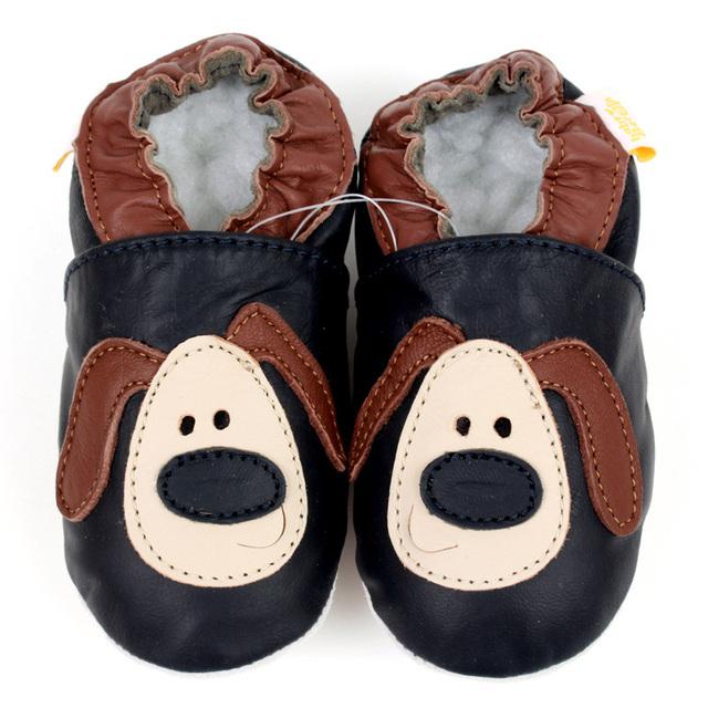 Zapatos de bebé únicos blandos bebé de cuero zapatos de bebé para niños recién nacido animales zapatos de bebé niño zapatillas niño zapato infantil calzado
