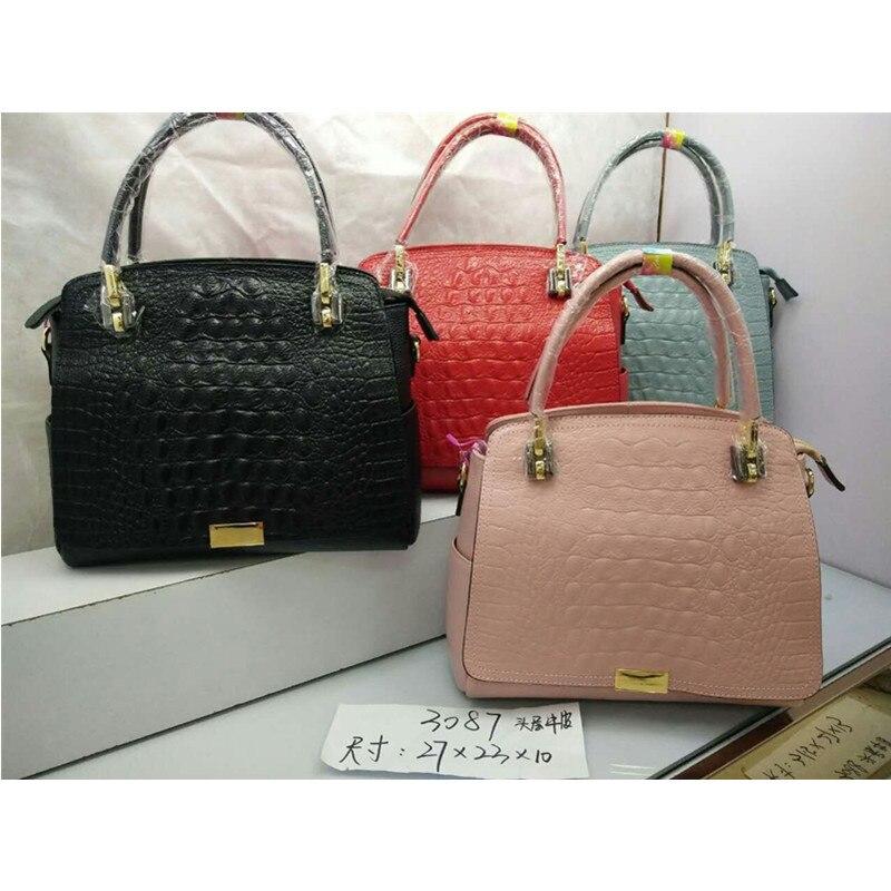 ФОТО DongHong geunine leather handbag lady's shoulder bag cow leather messenger bag designer women's bag tote