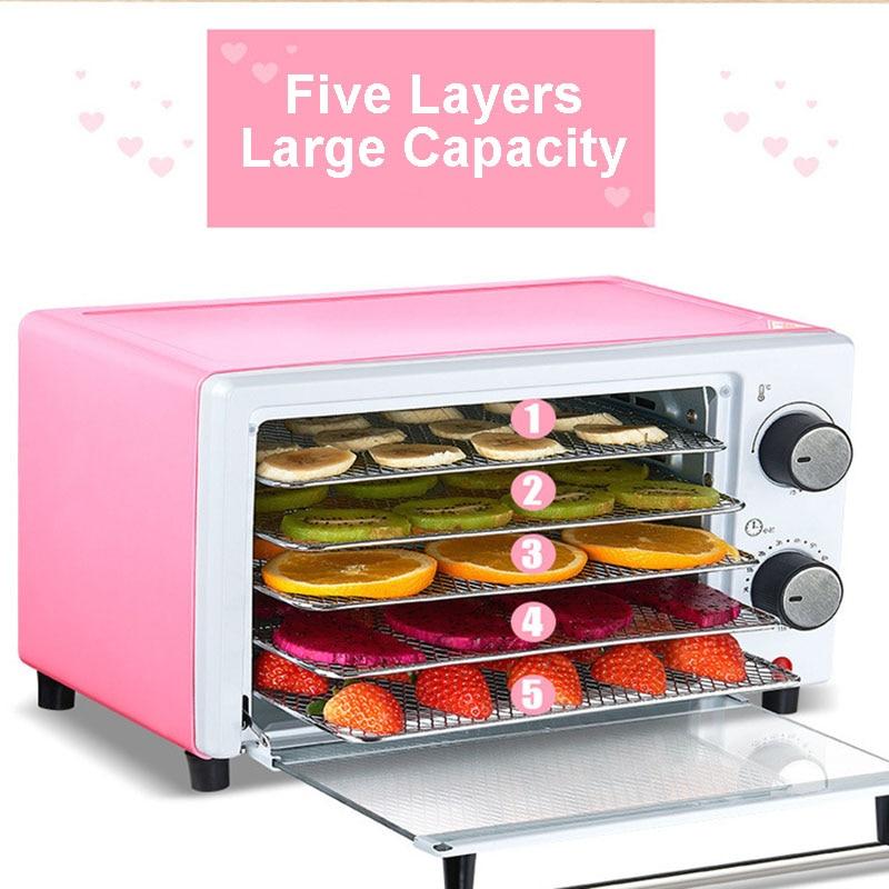 Déshydrateur alimentaire Machine à fruits secs électrique séchoir à légumes casse-croûte de boeuf déshydrateur saccadé Machine de séchage de viande acier inoxydable 220