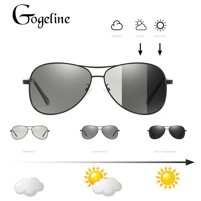 f51e2ed3e643e 2018 Lentes Fotocromáticas Óculos De Sol Dos Homens Polarizados Condução  aviação Chameleon Descoloração óculos de Sol para homens em Óculos de sol  de ...