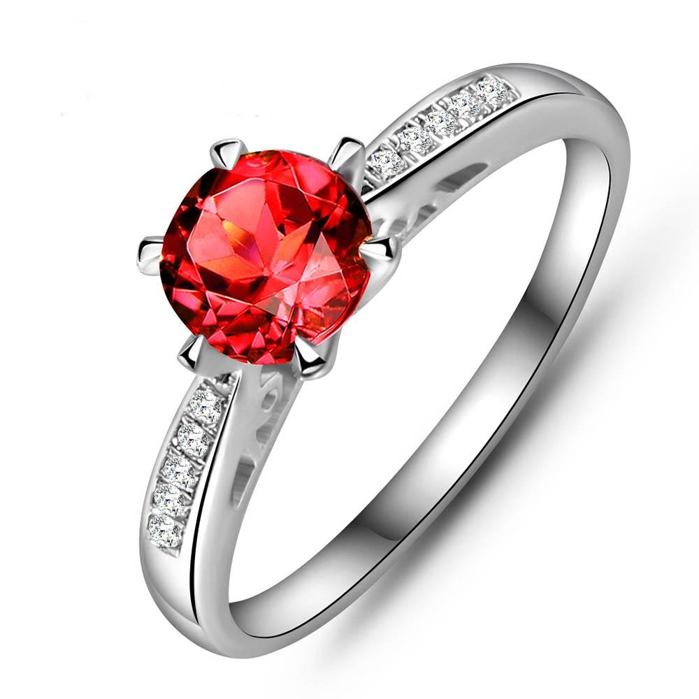 LANZYO 925 Sterling Silver Rings Přírodní Magnézium Granát Drahokam Jemné šperky Narozeniny pro ženy 2017 Nové prsteny j060601agsm