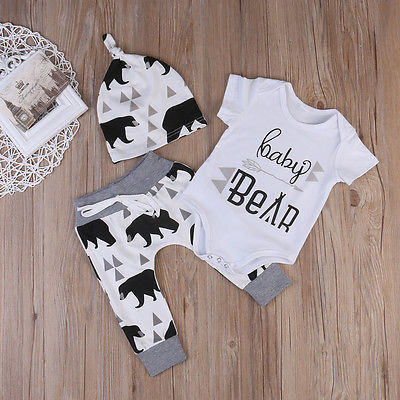 Summer-2017-Newborn-Baby-Boys-Girls-Kids-Clothes-Romper-T-shirt-Tops-Long-PantsHat-Outfits-Sets-2