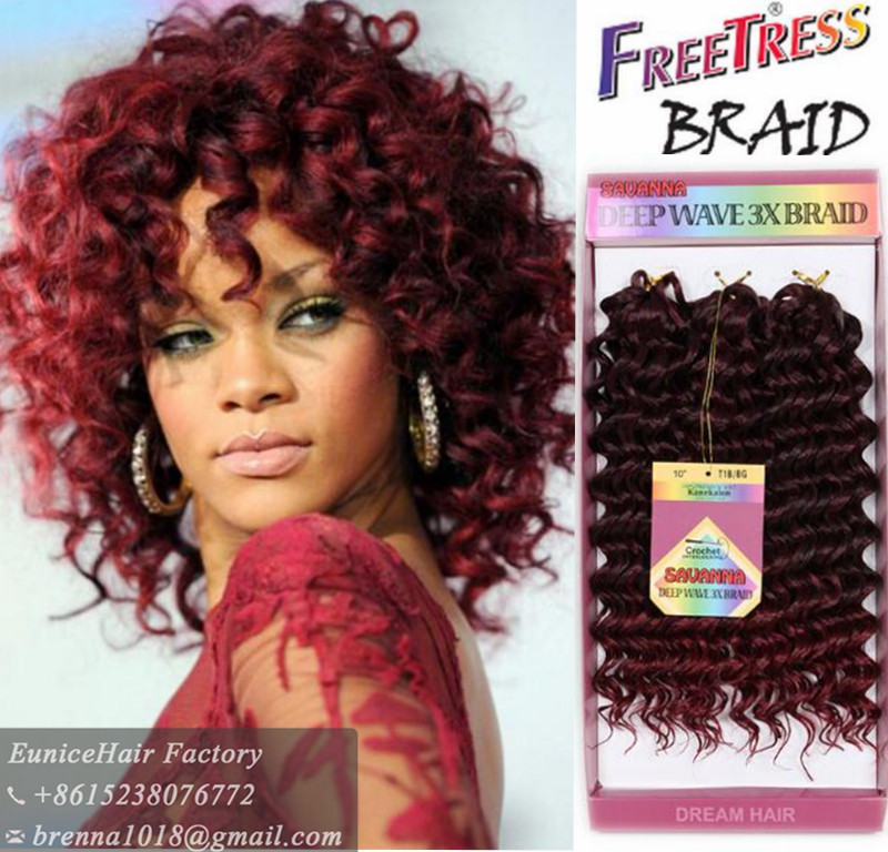 New Burgundy Bug Ombre Color Freetress Bohemian Hair