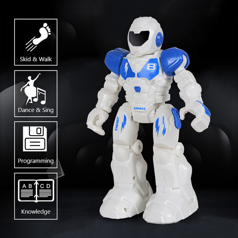 Fansaco RC Voice Robot Intelligent Programming Remote Control Toy Voice Recognition Robot Children Kids Birthday Gift Present