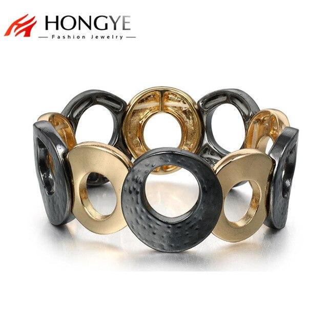 New Fashion Simple Punk Hip-hop Adjustable Bangles Upper Arm Bracelet for Women Men Jewelry