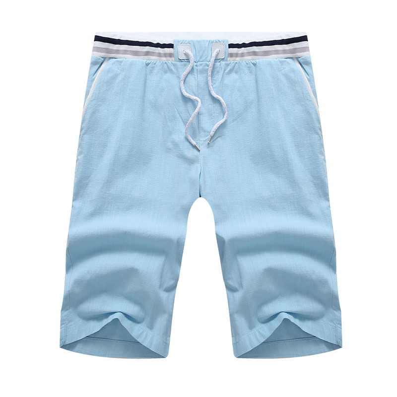 Plus Size 9XL 10XL Fashion Summer Mens Bermuda Shorts Solid Color Linen Male Short Pants Bermudas Masculino Men summer Shorts