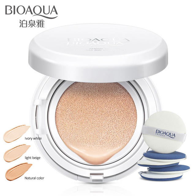 BIOAOUA Sunscreen Air Cushion BB CC Cream Concealer Moisturizing Foundation Whitening Makeup Bare For Face Beauty Makeup care 5