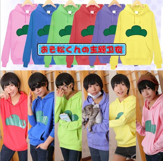 Anime cartoon toy Osomatsu-san Unisex women men Top Hoodies & Sweatshirts Spring/Autumn 6 color soft cotton collectible gift