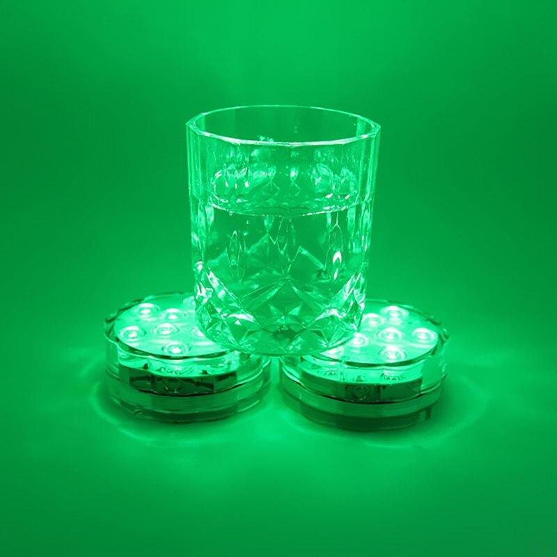 100PCS Aquarium RGB LED Submersible Light Remote Controlled IP68 Waterproof For Wedding Vase Lighting Pond