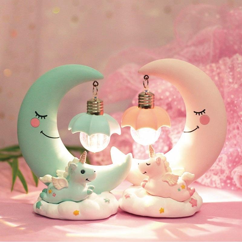 Unicorn & Moon Nightlight Lamp