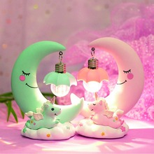 Unicorn Nightlight Creative Home Decoration Resin Crafts, Bedroom Living Room Decorations, New Year Christmas Gift Lamp.