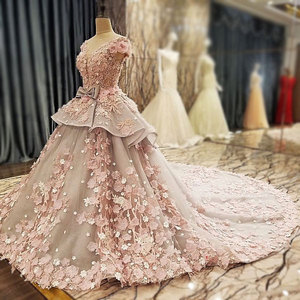 Image 4 - AIJINGYU レースウェディングドレスモロッコガウン韓国ロイヤルクイーン袖新しいインドのウェディングドレス