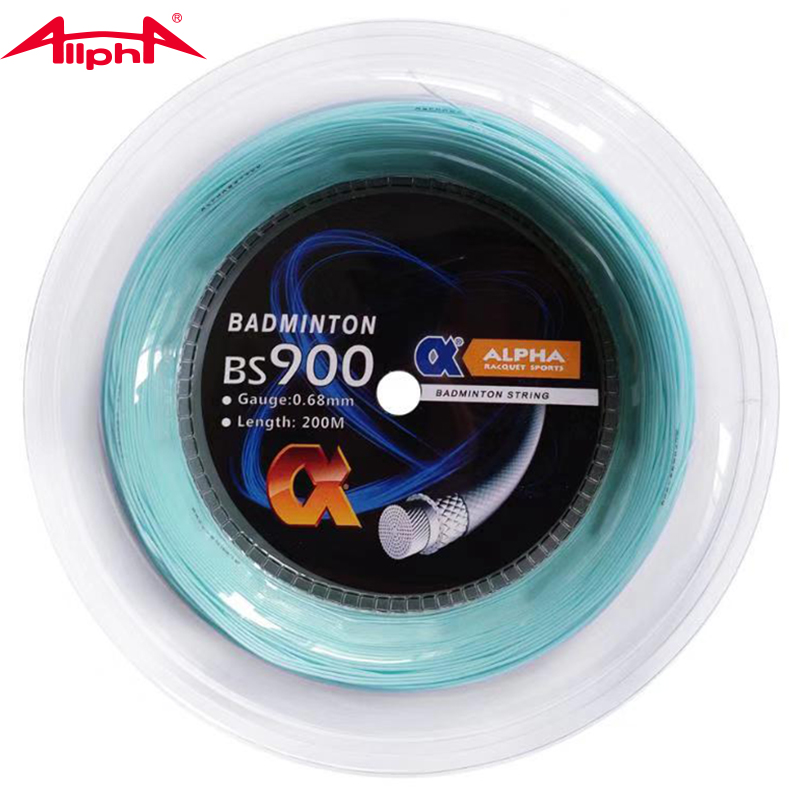 Alpha 0.68mm Badminton Racket String Nylon Durability Control Badminton String 200m Reel Made In Taiwan BS900