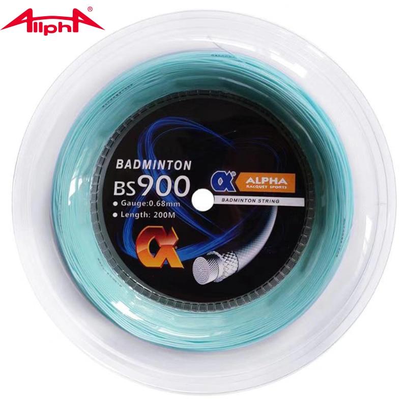Alpha 0.68mm Badminton Racket String BS900 Coil Control Badminton String 200m Reel  Good Durability Good Durabili Made In Taiwan