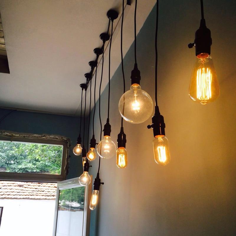 E27 Light bulb tungsten filament vintage industrial loft cafe bar bar single  Pendant lamp 自宅 ワイン セラー