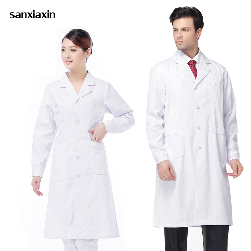 Wholesale Medical Uniforms Clothes Spot White Coats Medical Spa Hospital Gown Lab Coat Nurse Scrub Uniform Pharmacy Veterinary