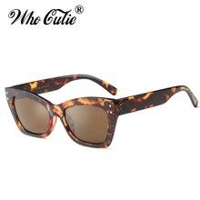 QUI CUTIE 2018 Surdimensionné Vogue Carré Rivet lunettes de Soleil Femmes  Hommes Marque Designer Femelle Rouge Cat Eye lunettes . aeef740e12d7