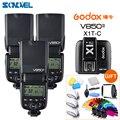 3 шт. Godox V850II GN60 2 4G Беспроводная X СИСТЕМА Speedlite литий-ионный аккумулятор вспышка + X1T-C 2 4G передатчик для CANON