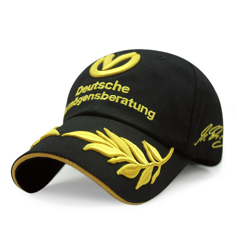 high quality racing font caps formula 1 baseball cheap mercedes cap