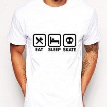 2017 fashion funny Eat Sleep Skate Tees Shirt Man dsq eye hip hop fear of god skam pokemon mma for twin peaks