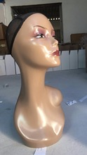Free Shipping Realistic Europe and America Female Mannequin Manikin Head 47cm Black Hair/Wig/Diomand Display Mannequin Head