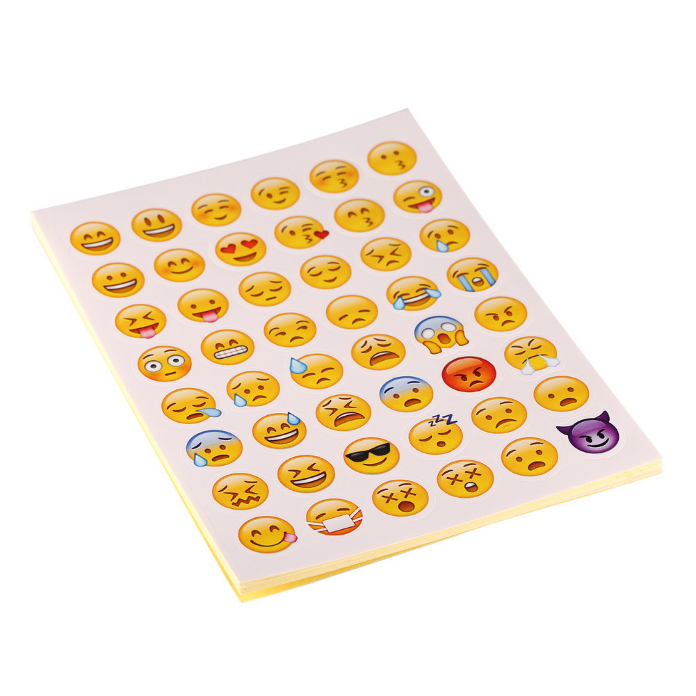 Baby font b Toys b font 20 sheets Pack Lovely Emoji Stickers Smily Face Stickers For