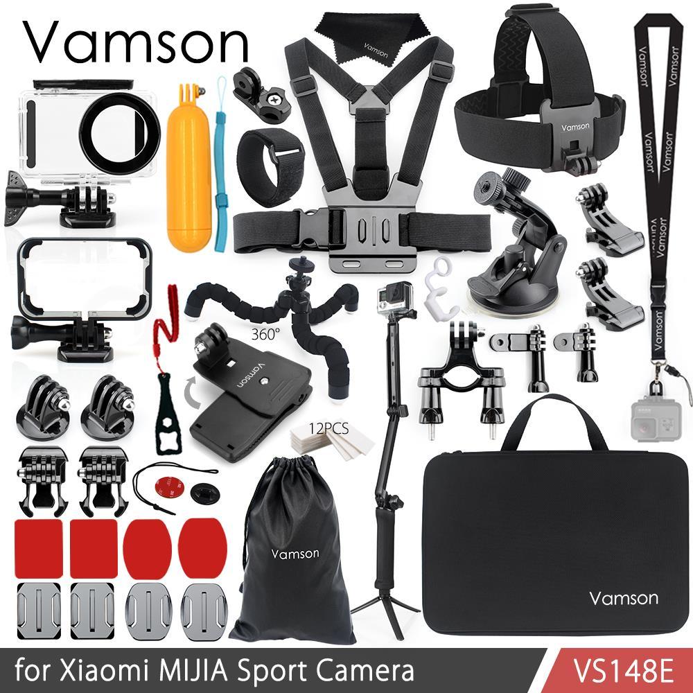 Vamson para Xiaomi MIJIA accesorios bolsa de protección llave de caja de montaje de trípode Monopod para MIJIA Cámara del deporte Cámara de VS148