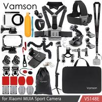 Vamson for Xiaomi MIJIA Accessories Set Protection Bag Wrench Frame Box Tripod Mount Monopod for MIJIA Sport Camera VS148