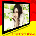 Luxury Top Rank Home Theater Matte White100inch 100''  4:3 Fixed Frame Projection Projector PVC Screen