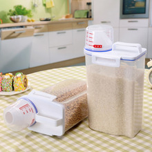 2L Kitchen Transparent PP Storage Box Grains Beans Contain Sealed Home Organizer Food Container Refrigerator