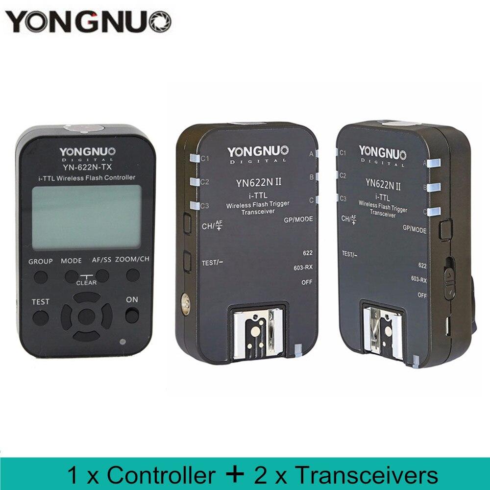 YONGNUO YN-622N II TTL Wireless Flash Trigger for Nikon D800 D700 D600 D610 D300 with YongNuo YN-622N-TX controller